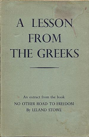 A lesson from the Greeks