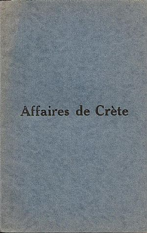 Affaires de Crète.