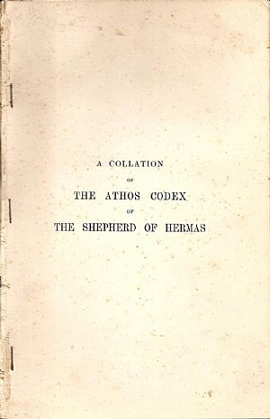A collation of the Athos Codex of the Shepherd of Hermas, together with an introduction