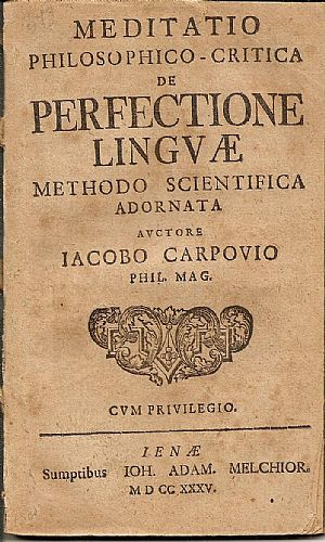 Meditatio philosophico-critica de perfectione linguae methodo scientifica adornata…