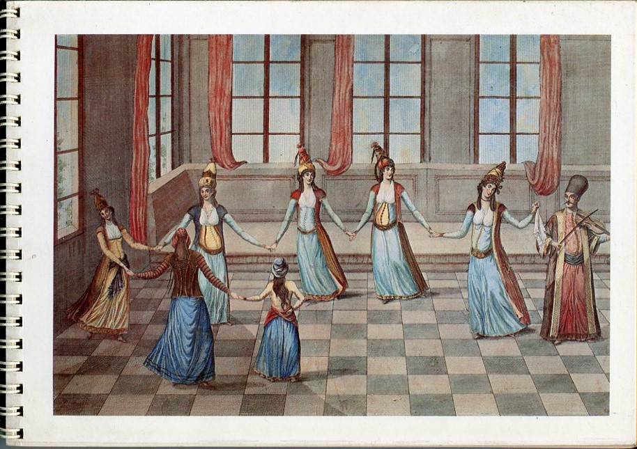 Lykion Ton Hellinidon London, Diary 1989, Greek Dance as depicted in antiquarian engravings