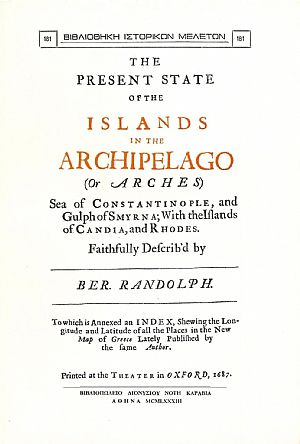 THE PRESENT STATE OF THE ISLANDS IN THE ARCHIPELAGO