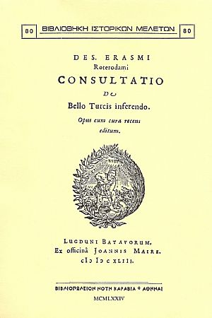 Consultatio de Bello Turcis inferendo.